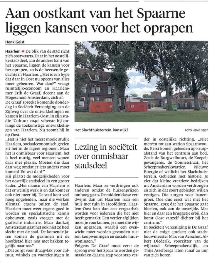 Haarlems Dagblad lezing vastgoed.